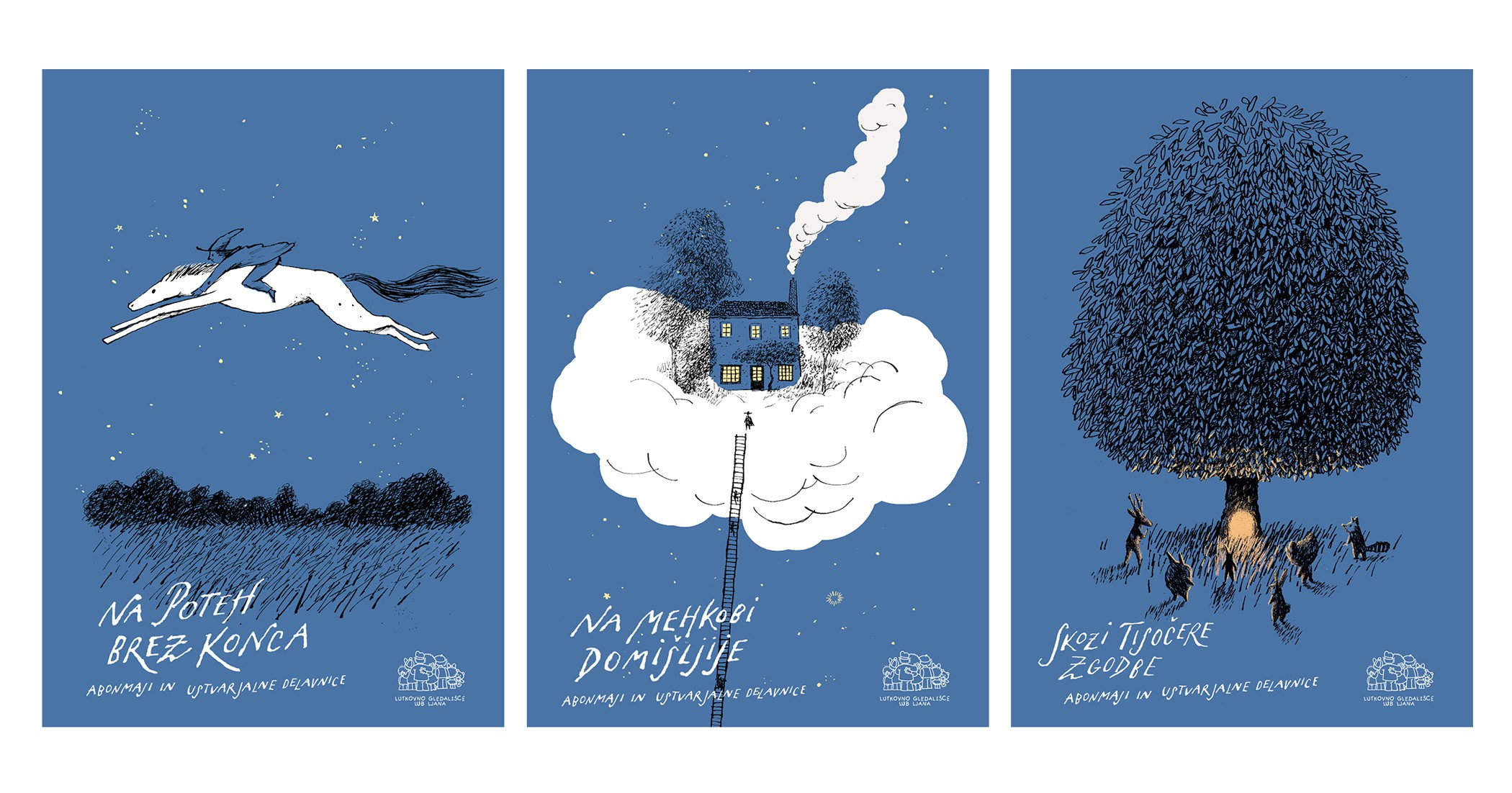 Posters for Ljubljana Puppet Theatre 2016/17